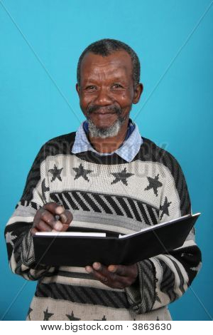 African Man And Book