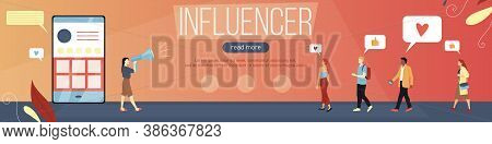 Career And Hobby, Global Influencer Marketing Concept. Teachers, Coaches, Bloggers And Other Influen