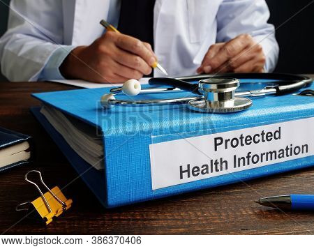 Folder With Protected Health Information Phi As Part Of Hipaa Rules.