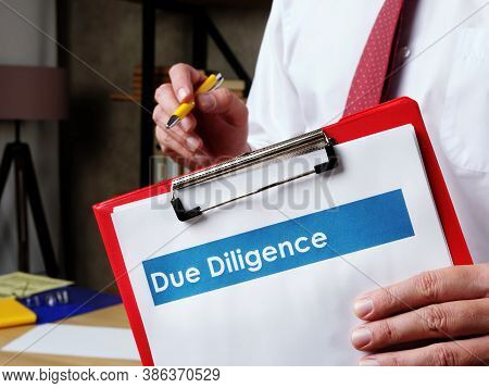 Due Diligence Documents In The Hands Of A Young Clerk.