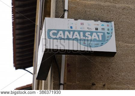Bordeaux , Aquitaine / France - 08 04 2020 : Canalsat Logo Sign  And Text Of Canal Plus + Television