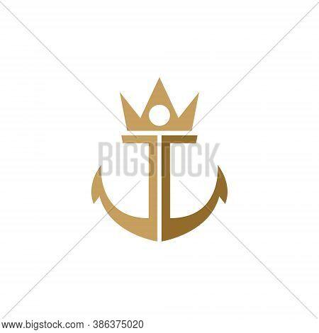 Crown Anchor Ship Cruise Boat Nautical Sea Logo