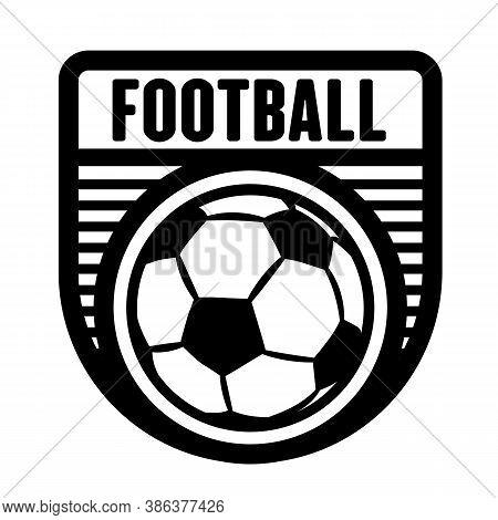 Football, Soccer Sports Logo Template, Vector Art Graphic. Ideal For Football, Soccer Team Logo, T-s