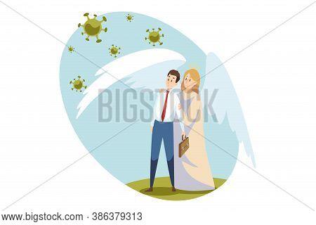 Religion, Business, Health, Care, Medicine, Coronavirus, Christianity, Bible Concept. Angel Biblical