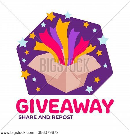 Giveaway Share And Repost, Social Media Marketing Or Ad