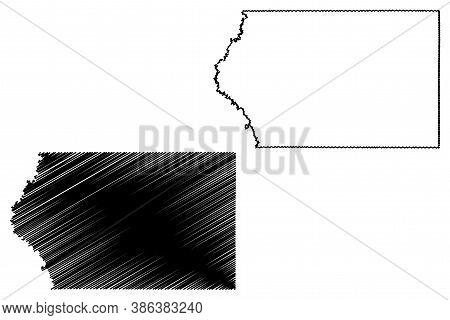 Plymouth County, Iowa (u.s. County, United States Of America, Usa, U.s., Us) Map Vector Illustration