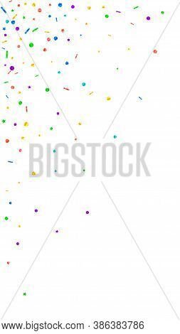 Festive Sublime Confetti. Celebration Stars. Festive Confetti On White Background. Fine Festive Over