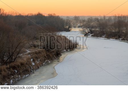 Dangerous Winter River Ravines Off The Coast