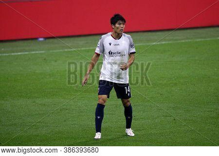 Milano, Italy. 21th September 2020. Italian Serie A. Takehiro Tomiyasu Of Bologna Fc In Action Durin