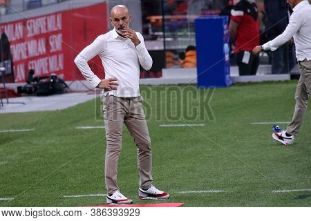 Milano, Italy. 21th September 2020. Italian Serie A. Stefano Pioli, Head Coach Of Ac Milan, During