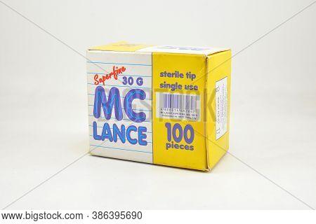Manila, Ph - Sept 10 - Mc Lance Superfine Lancet Needle Box On September 10, 2020 In Manila, Philipp