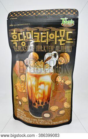 Manila, Ph - Sept 10 - Toms Farm Black Sugar Milk Tea Almond Nuts On September 10, 2020 In Manila, P