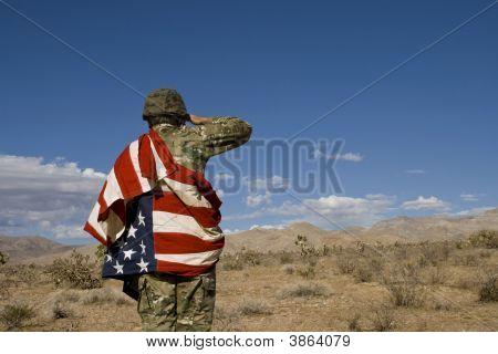 amerikanischer Soldat im Irak