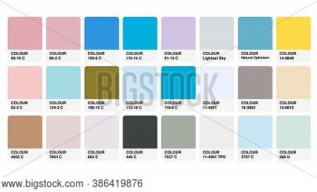 Colour Palette Catalog Samples Vector In Rgb