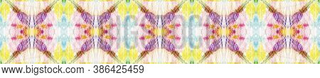 Tie Dye Effect. Multicolor Natural Ethnic Illustration. Tribal Backdrop.  Red, Green, Blue And Pink