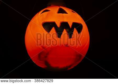 Interior Decoration Furniture Pumpkin Halloween Or Jack O Lantern Of Cafe Coffee Shop Vintage In Mae