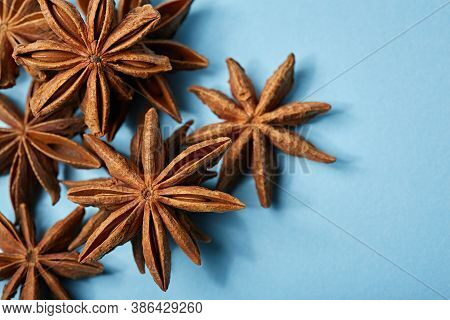 Star Anise Spice Fruits And Seeds. Spice. Seasoning.