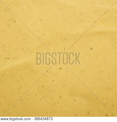 Russian Mustard.the Texture Of The Mustard.yellow Mustard Background Top View.