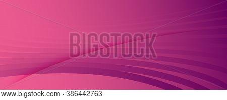 Color Flow Wave. Pink Futuristic Landing Page. Abstract Fluid Lines. Digital Brochure.  Color Flow W