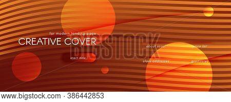 Vector Fluid Flow. Orange Dynamic Background. 3d Abstract Shapes. Creative Texture. Yellow Fluid Flo