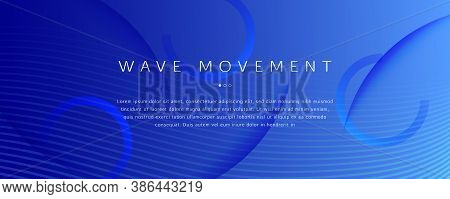 Blue Futuristic Abstract. Creative Layout. 3d Gradient Wallpaper. Wavy Color Poster. Technology Futu