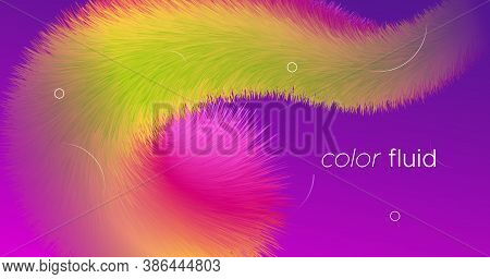 Vibrant Design. 3d Abstract Movement. Gradient Wallpaper. Liquid Trendy Vibrant Design. Creative Flo