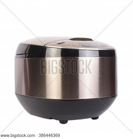 Automatic Modern Multicooker Isolated On White Background. Household Appliances Programmed For The P