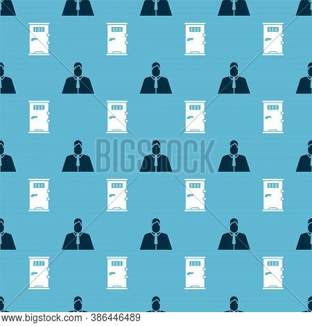 Set Lawyer, Attorney, Jurist And Prison Cell Door On Seamless Pattern. Vector