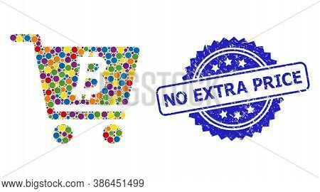 Bright Colored Collage Bitcoin Webshop, And No Extra Price Scratched Rosette Seal Imitation. Blue St