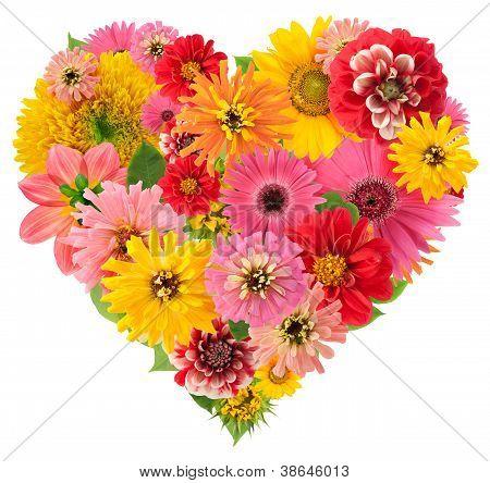 Summers Flowers Heart