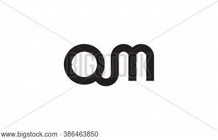 Om/qm Letter Logo Design Vector Template Logo
