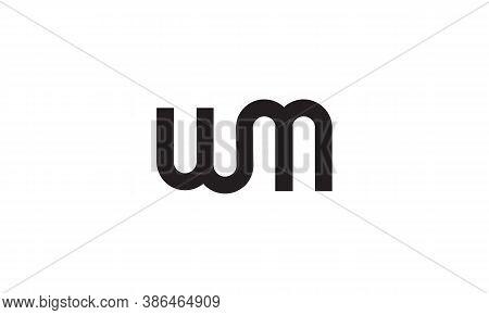Um Letter Logo Minimalist Design Vector Template