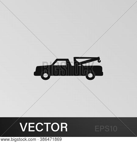 Pick-up Truck With A Crane Icon. Element Of Car Type Icon. Premium Quality Graphic Design Icon. Sign