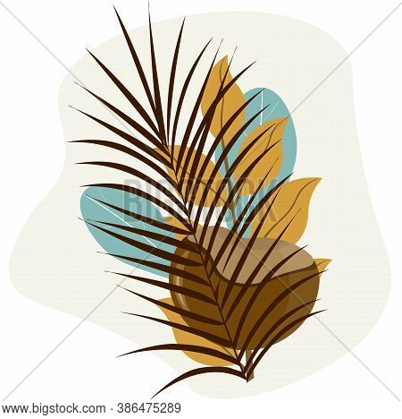 Autumn Composition Of Leaves And Chestnut. Bright Template For A Banner,  Posters. Vector Illustrati