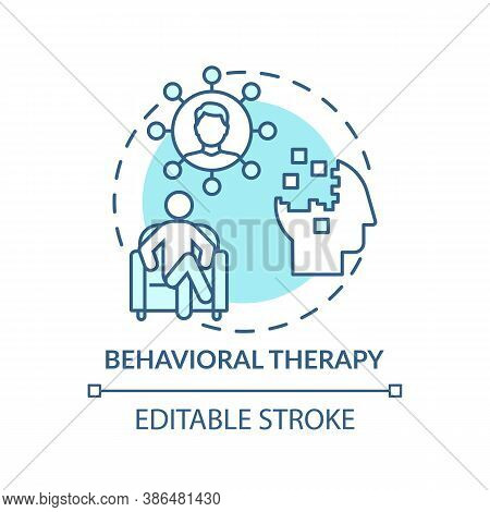 Behavioral Therapy Concept Icon. Mental Health Disorders Treatment Idea Thin Line Illustration. Clin