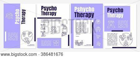 Psychotherapy Brochure Template. Professional Psychoanalysis Service Flyer, Booklet, Leaflet Print,
