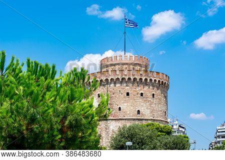 White Tower In Thessaloniki In Summer, Greece