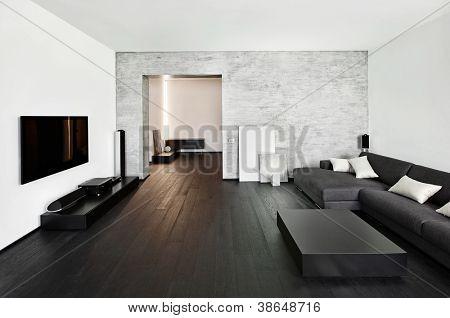Modern minimalism style drawing-room interior