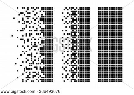 Rectangle Disintegration Into Pixels Or Effect Of Combining Many Particles Into One Shape Is A Recta