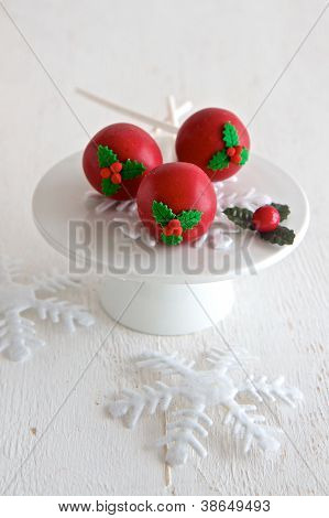 Red Christmas Cake Pops