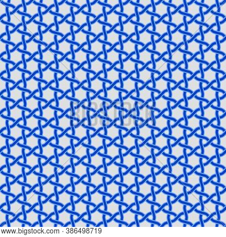 Vector Design Of Interlaced Lines To Be Used As A Pattern, In Blue, Easy To Change Color.