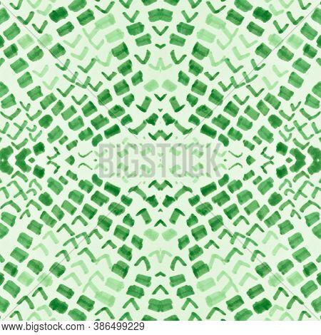 Seamless Cobra Pattern. Green Color Rapport. Jungle Exotic Wallpaper. Cobra Or Serpent Wild Print. A