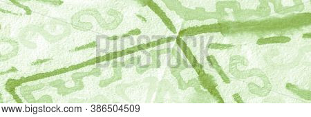 Herb Ethnic Wallpaper. Aztec Template. Geometric Abstract. Mexico Embroidery. Panoramic Embroidery M