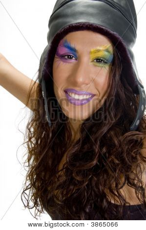 Close Up Of Smiling Female Model