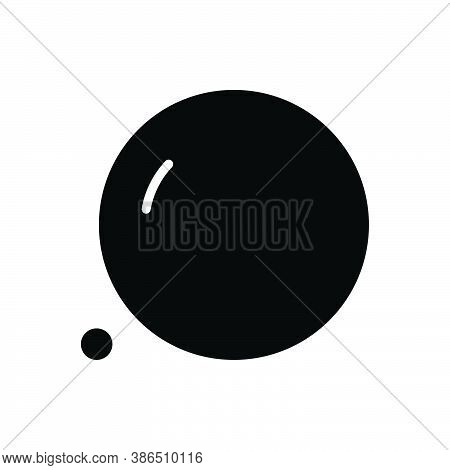 Black Solid Icon For Huge Giant Vast Spacious Gigantic Enormous