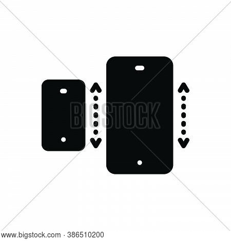 Black Solid Icon For Specifically Especially Exclusively Mainly Mobile Cellphone Technology Electron