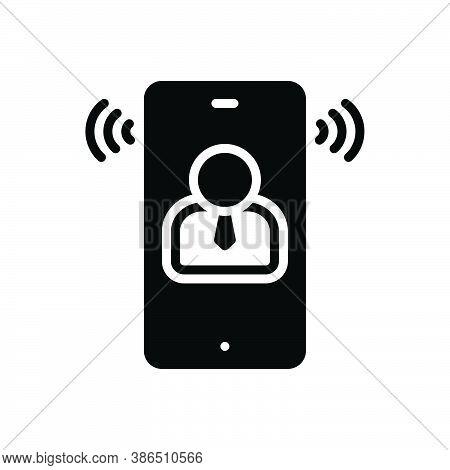 Black Solid Icon For Speech Oration Harangue Speaking Lecture Recitative Conversation Phone