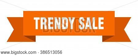 Trendy Sale Ribbon. Trendy Sale Isolated Band Sign. Banner