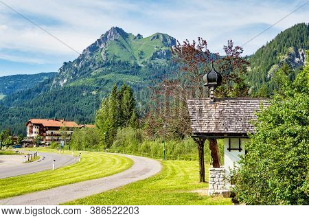 The Aggenstein In The Allgaeu Alps From The Tyrol, Austria. Wooded Slopes And Rugged Summit. View To