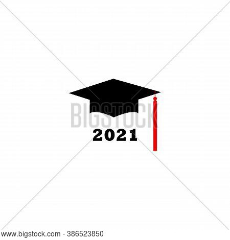 Congrats Grad 2021. Vector Label On White Background. Print For Graduation Design, Congratulation Ev